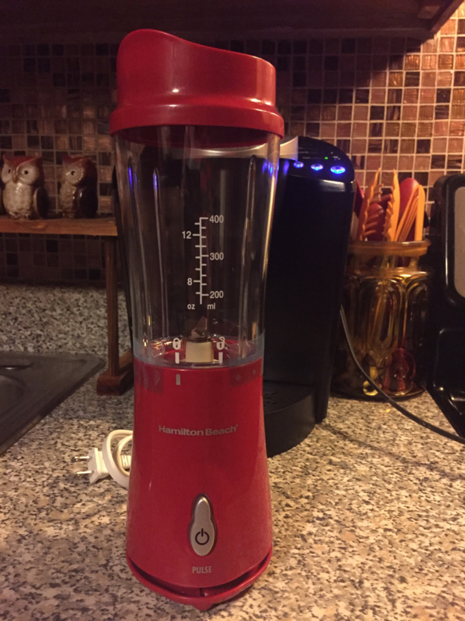 Made my first smoothie. I'm so excited it came out deliciously well. Just purchased the Hamilton Beach Pulse. One person serving and portable cup.